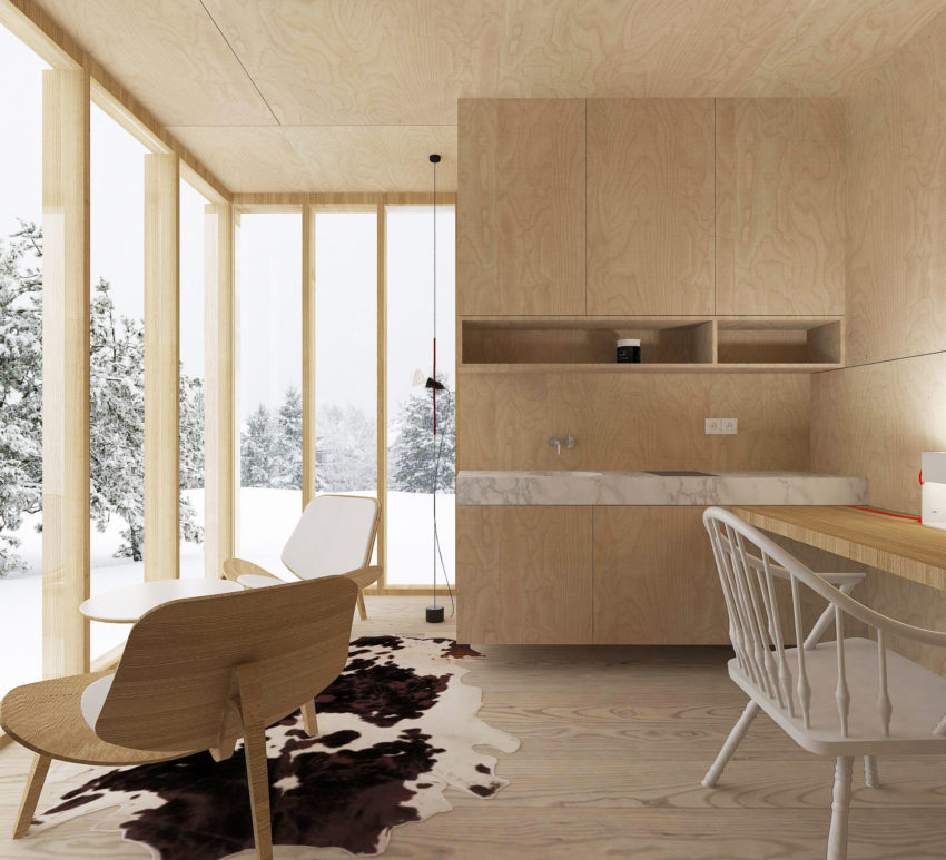 A Modern Winter Shelter by FO4A Architecture (6)